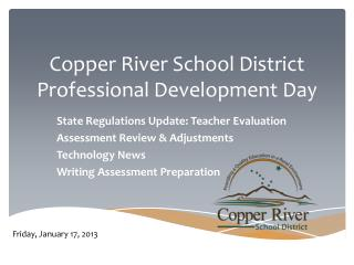 Copper River School District  Professional Development  Day