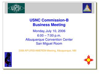 USNC Commission-B Business Meeting