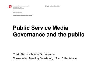 Public Service Media Governance and the public