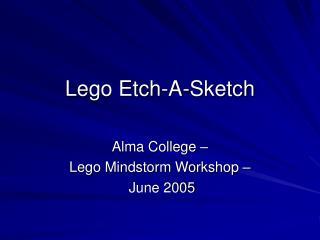 Lego Etch-A-Sketch