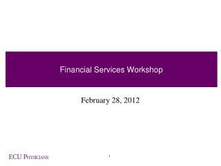 Financial Services Workshop