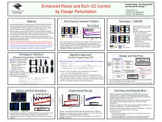 Enhanced Resist and Etch CD Control  by Design Perturbation