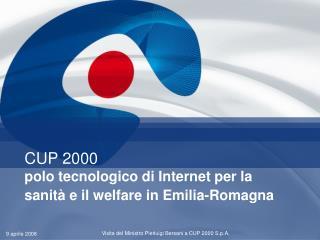 CUP 2000 polo tecnologico di Internet per la sanità e il welfare in Emilia-Romagna