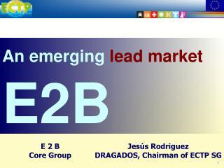An emerging  lead market E2B