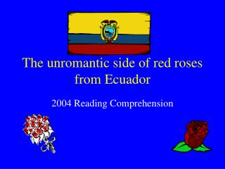 The unromantic side of red roses from Ecuador