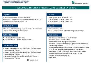 PROGRAMA DE FORMACIÓN CONTINUADA - DEPARTAMENTO DE EXPLOTACIONES -