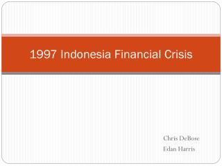 1997 Indonesia Financial Crisis
