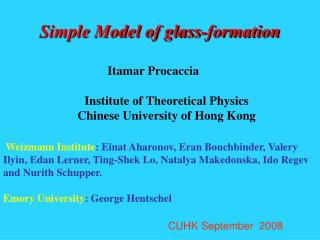 Simple Model of glass-formation