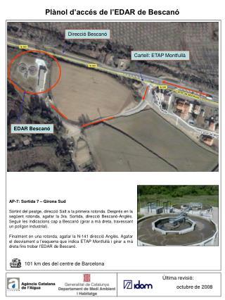 Plànol d'accés de l'EDAR de Bescanó