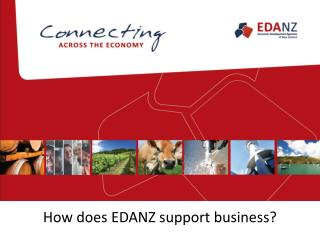 How  does EDANZ support  business?