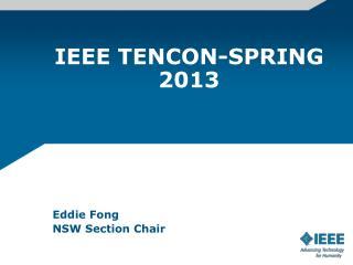 IEEE TENCON-SPRING 2013