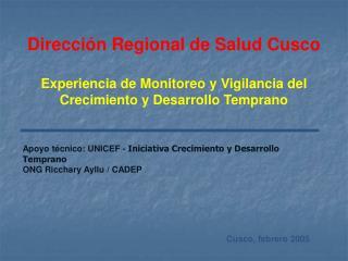 Direcci�n Regional de Salud Cusco