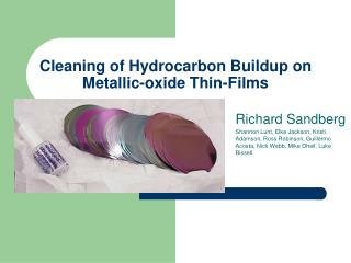 Cleaning of Hydrocarbon Buildup on Metallic-oxide Thin-Films