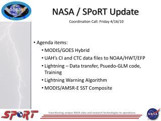 NASA / SPoRT Update