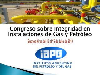 Congreso sobre Integridad en Instalaciones de Gas y Petróleo