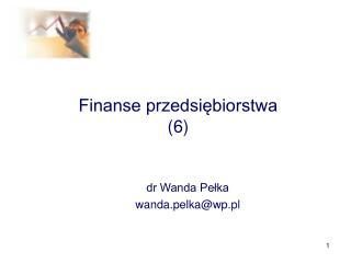Finanse przedsiebiorstwa 6
