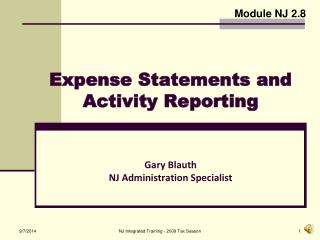 Expense Statements and Activity Reporting