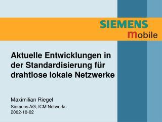 Aktuelle Entwicklungen in der Standardisierung für drahtlose lokale Netzwerke
