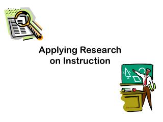 Applying Research on Instruction
