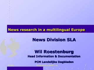 News research in a multilingual Europe