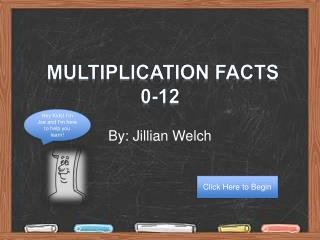 Multiplication Facts 0-12