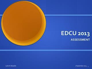 EDCU 2013