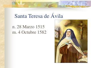 Santa Teresa de  Á vila