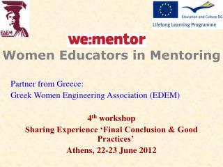 Women Educators in Mentoring