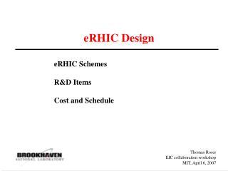 eRHIC Design