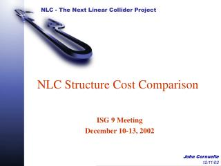 NLC Structure Cost Comparison
