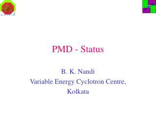 PMD - Status
