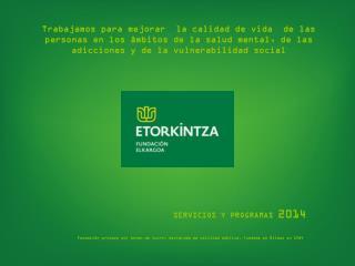 SERVICIOS Y PROGRAMAS  2014