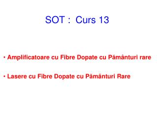 SOT  :  Curs 1 3