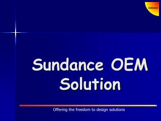 Offering the freedom to design solutions