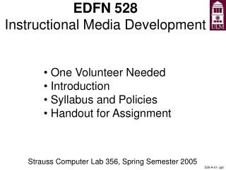 EDFN 528 Instructional Media Development