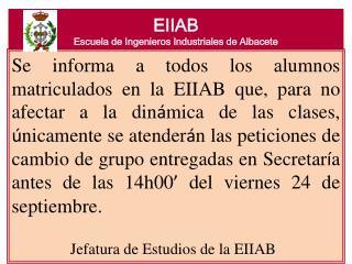 EIIAB Escuela de Ingenieros Industriales de Albacete