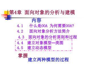 4.1    什么是 OOA  为何需要 OOA?