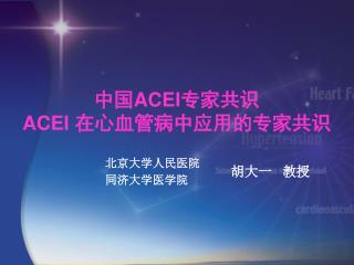 中国 ACEI 专家共识 ACEI  在心血管病中应用的专家共识