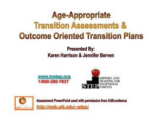 Age-Appropriate Transition Assessments &  Outcome Oriented Transition Plans