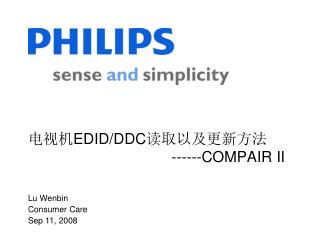电视机 EDID/DDC 读取以及更新方法                                    ------COMPAIR II