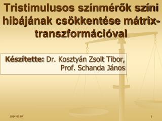 Tristimulusos  színmérők színi hibájának csökkentése  mátrix-transzformációval