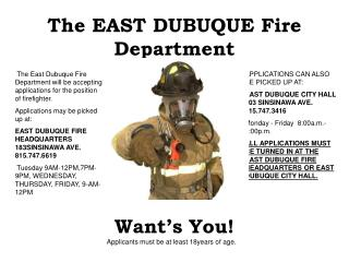 The EAST DUBUQUE Fire Department
