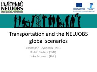Transportation and the NEUJOBS global scenarios