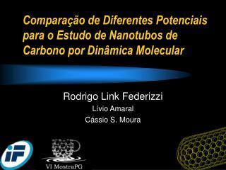 Comparação de Diferentes Potenciais para o Estudo de Nanotubos de  Carbono por Dinâmica Molecular