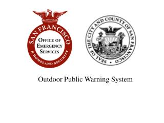Outdoor Public Warning System