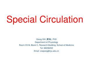 Special Circulation