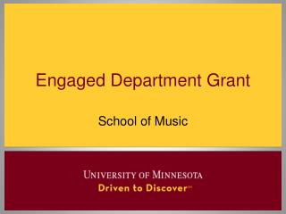 Engaged Department Grant