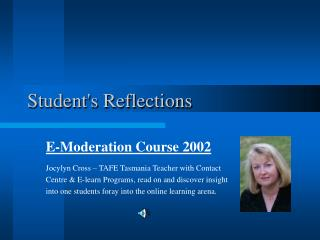 Student's Reflections