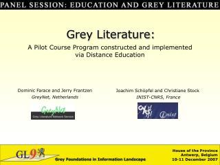 Grey Foundations in Information Landscape