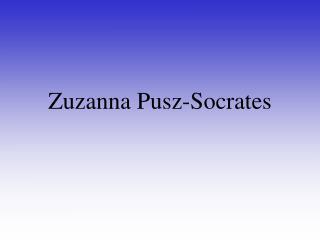 Zuzanna Pusz-Socrates